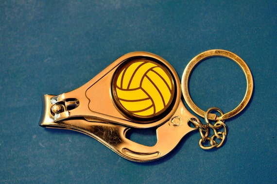 water polo ball nail clippers bottle opener keychain. Black Bedroom Furniture Sets. Home Design Ideas