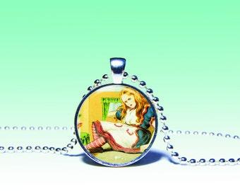 ALICE JEWELRY, alice pendant Alice in Wonderland Necklace, Fairy tale pendant, Alice in Wonderland Charm Wonderland Pendant Alice