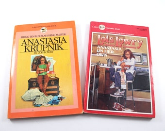 Lois Lowry - Anastasia Krupnik (1981) and Anastasia on Her Own (1985) - vintage, young adult novels, 1980s paperback