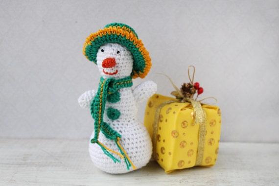 Amigurumi Christmas Decorations : Items similar to Snowmen, crochet toy, Christmas ornament ...