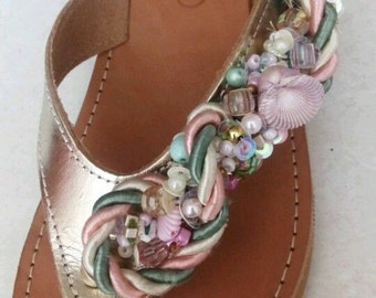 Greek leather sandal