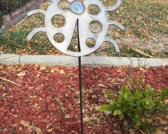 Ladybug Lawn Art Steel