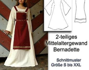 Schnittmuster Mittelalterkleid medieval viking dress pattern S-XXL