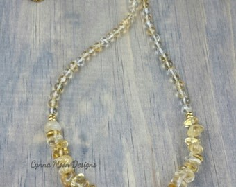 Citrine Crescent Necklace