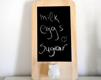 Chalkboard cutting board / Kitchen cutting board / Quote cutting board