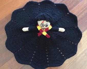 Crochet Harry Potter Doll, Lovey, Security Blanket