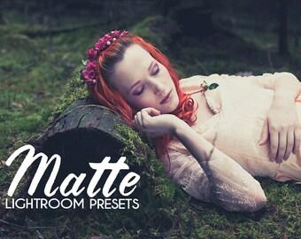 20 Matte Presets for Lightroom Toning, monochrome, vintage, cross processing pastel.