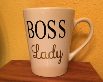 Boss Lady Mug, Boss Gift, Entrepreneur Gift, business owner gift, Boss Lady, Bossy, Girl Boss, vendor gift, manager gift, congratulations