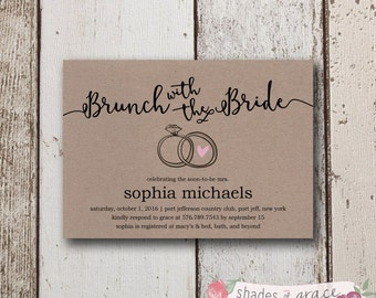 bridal shower invitation instant download rustic bridal shower invites diy wedding shower invites
