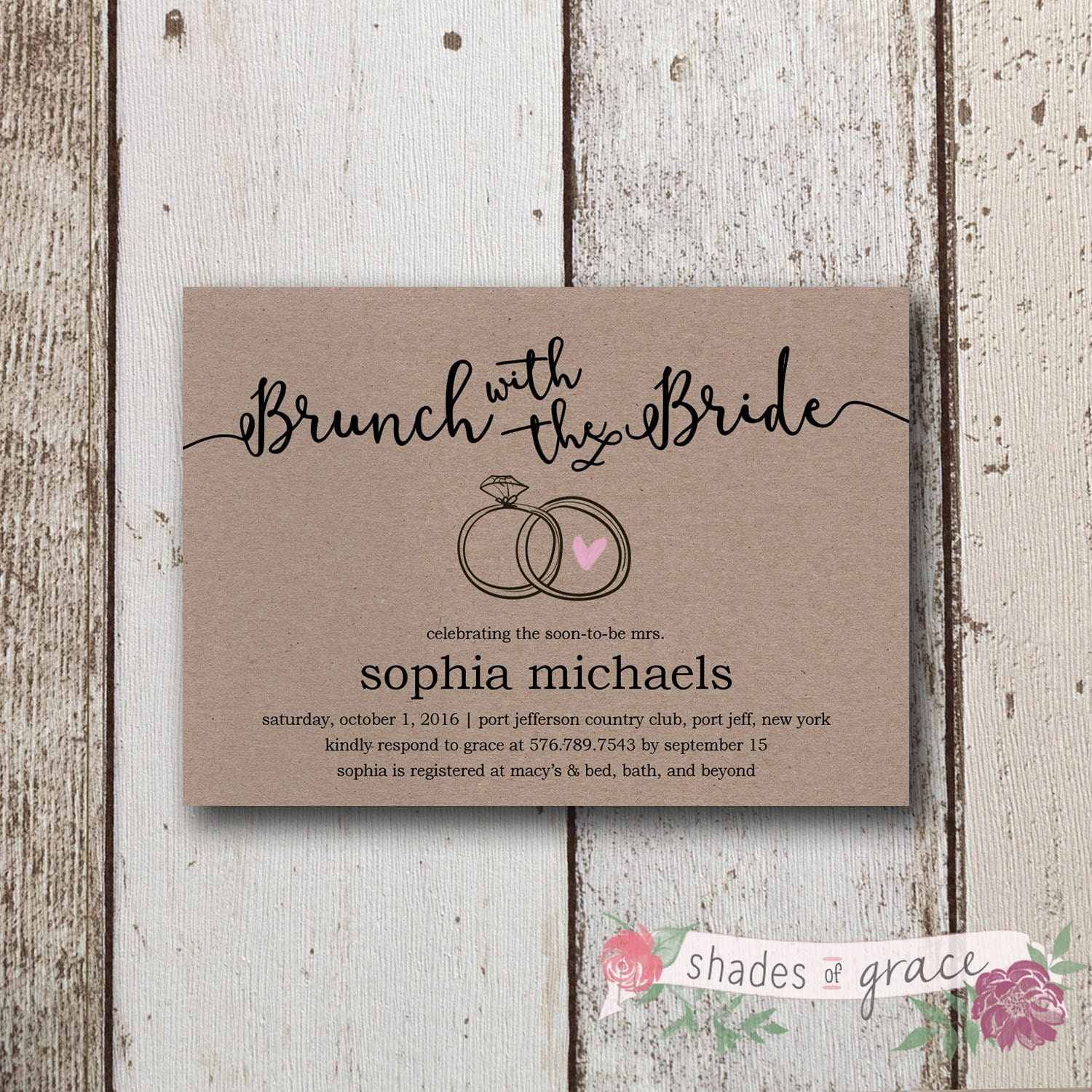 It's just an image of Superb Bridal Shower Invitations Free Printable