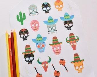 fiesta stickers fiesta party fiesta decorations - Fiesta Decorations