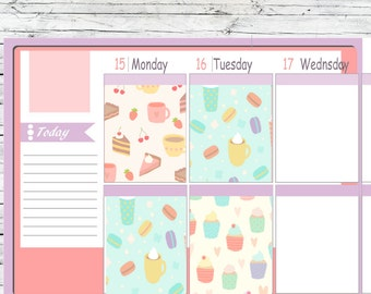 Cupcake Full Boxes Stickers To Use With Erin Condren Planner