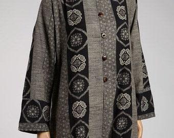 Black & Grey Long Sleeve Tunic - Style # 2-043
