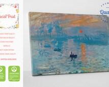 Claude Monet Impression, Sunrise (soleil levant) FREE SHIPPING reproduction fine art gallery print Artwork Giclee decor wall art famous art