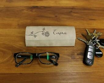 Personalized Glasses Case, Custom Glasses Case, Personalized Eyeglasses case, Custom Glasses Case, Eyeglasses Holder --GC-LLB-Emma