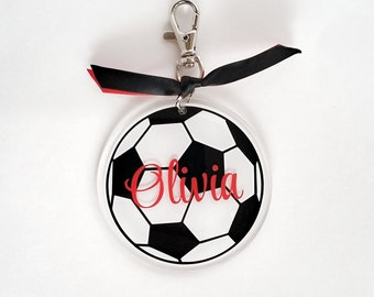 Personalized Soccer Bag Tag - custom bag tag - back to school tag - backpack tag - gym bag tag - personalized bag tag - sports bag tag