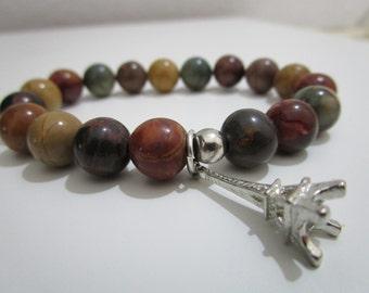 Mokaite bracelet, Mokaite, Natural stone bracelet, Womens jewelry, Womens bracelet, Bracelet, Gift, Gift for women, Jewelry, Stones bracelet