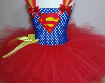 Superman/ Supergirl inspired tutu - dress up costume role play party superhero