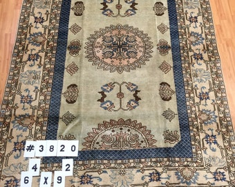 6' x 9' New Persian Sultanabad Oriental Rug - Hand Made - 100% Wool