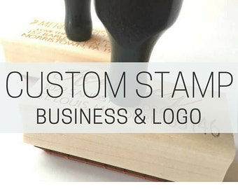 Custom Rubber Stamp - Custom Business Stamp for Etsy Shop or Small Business - Custom Logo Rubber Stamp for Business Branding and Packaging