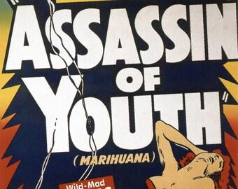 marijuana cult film poster Marijuana: Assassin of Youth — repro print