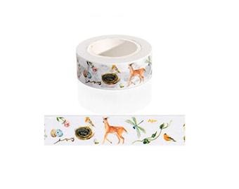 Animals in Nature Washi Tape / Cute Washi Tape / Kawaii Washi Tape / Cute Masking Tape / Deer Washi Tape / 10M Washi Tape / Bird Washi Tape