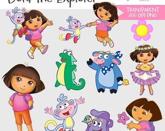 Dora the Explorer, instant download, png, transparent background #C-052