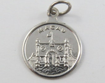 Macau Sterling Silver Charm of Pendant.