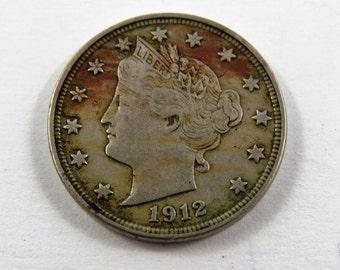 U.S. 1912 Liberty Nickel Coin.