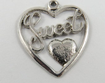 Sweetheart Silver Charm of Pendant.