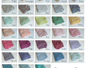 Set of 2 Newborn Cheesecloth Wraps, Photography prop, Newborn Photo Prop, Newborn Wrap Set