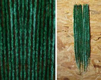 Crocheted Synthetic Dreadlocks | Dreads | Green Blue Knotty | Pieces 10-100 SE DE | Dreadlock | Dread | Synthetic | Alternative Hairstyle
