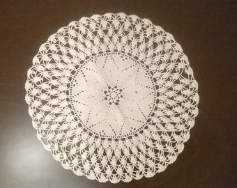 Crochet Doily Tablecloth. Free Shipping