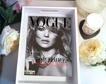 Kate Moss Black & White Vogue Cover Tray