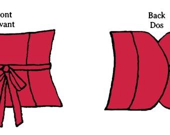 Reversible obi corset PDF pattern