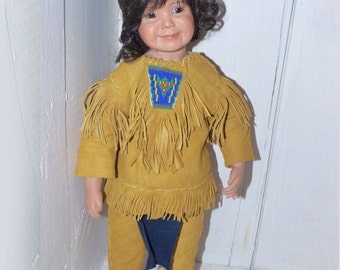 Hand Poured and Dressed Native Doll - 198