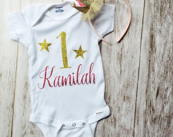 1 year birthday onesie for girls