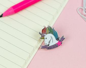 Majestic As F***! Unicorn Enamel Pin // Unicorn pin, lapel pin, hard enamel pin // Majestic unicorn, mature adult 18+ // EP009