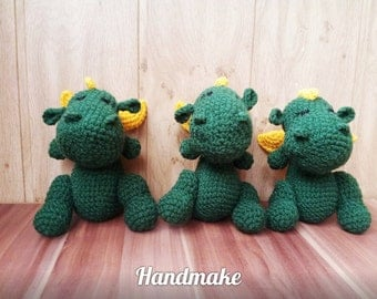 Dragon handmade toy,amigurumi,souvenir,gift