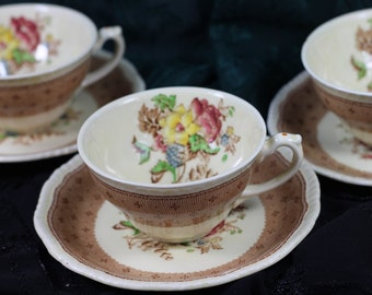 Plymouth Ridgways Shelton England Cups and Saucers- 3 Available