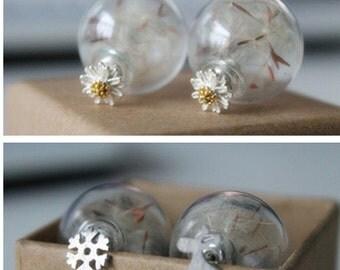 Dandelion (dandelion) rockers earrings