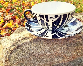 Birch Tree Cup with Saucer