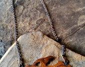 RESERVE Listing - Hand Pierced Pterodactyl Necklace - For RLL/YaksmeatCrafts ONLY