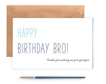 Happy Birthday Card - Brother Birthday Card
