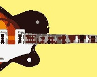 Guitar Image for Embroidery Machines