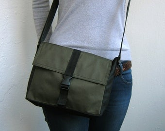 Khaki crossbody bag Small messenger bag Khaki cross body bag Waterproof shoulder purse