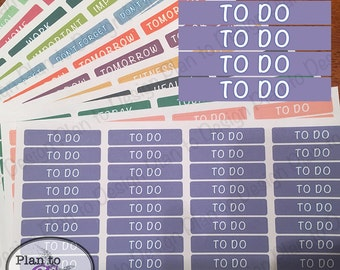 To Do Header Stickers (40) made for 2017-18 Erin Condren Life Planner and Happy Planner