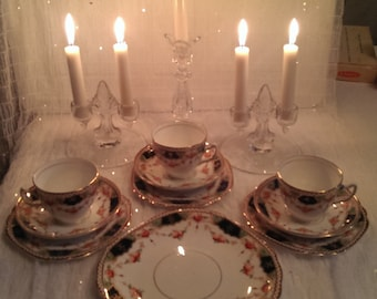 Tea for three!  10 piece set of Vintage Rosina China Made in England.