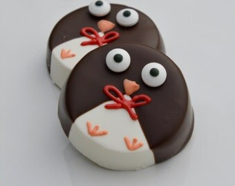 Chocolate Dipped Oreo Penguins (12), Chocolate Baby Shower Penguin Favors, Winter Wonderland Favors, Holiday Party Chocolates, Penguin Gifts