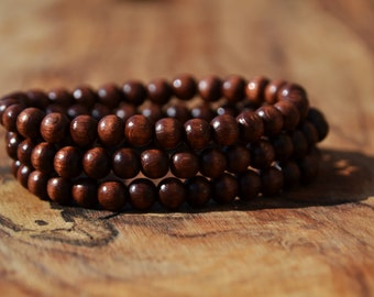 Set of 3 Wooden Bead Bracelets - 6mm